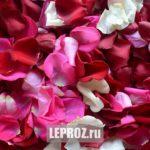 микс из лепетков роз